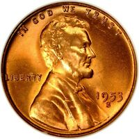 1953 S 1C LINCOLN WHEAT ANACS MS66RD 152