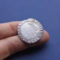 HAMMERED SILVER COIN CHARLES 1ST SHILLING C 1633 AD