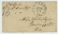 MR FANCY CANCEL CSA STAMPLESS COVER WINCHESTER VA CDS DUE 10 FROM SOLDIER AL REG