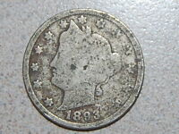 1893  LIBERTY NICKEL  OLD COIN  2247