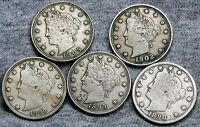 1898  1899  1902 1905  1909 LIBERTY V NICKELS ---  --- D786