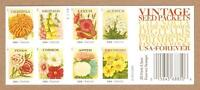 4763B - 49C FOREVER VINTAGE SEED PACKETS - BOOKLET OF 20 - MNH