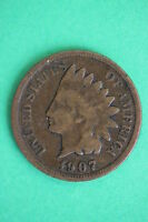 1907 INDIAN HEAD CENT PENNY EXACT COIN PICTURED FLAT RATE SHIPPING 0776