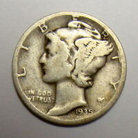 1935 D MERCURY DIME BETTER DATE COLLECTOR COIN