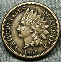 1860 INDIAN HEAD CENT PENY     NICE TYPE COINS     N073