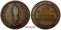 GERMANY BRONZE 1887 MEDAL LUDWIG UHLAND 1787 1862 100 ANNIVERSARY UNC 10169