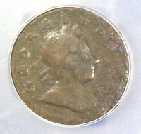 1718 GREAT BRITAIN HALF PENNY COIN  ICG G06 DETAILS CORRODED  KM549
