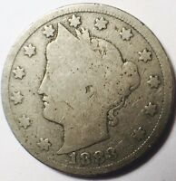 1883 WITH CENTS  LIBERTY 5C