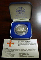 1987 AUSTRALIA $10 SILVER PROOF COMMEMORATIVE COIN NEW SOUTH WALES