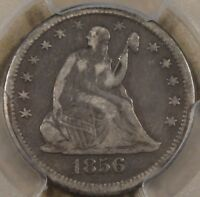 1856 O LIBERTY SEATED QUARTER PCGS VF 25