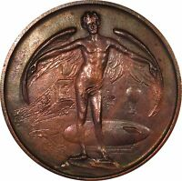 CHICAGO NUMISMATIC SOCIETY MEDAL 1910 PROGRESS IN AVIATION ONLY 200 STRUCK
