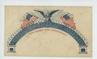 MR FANCY CANCEL CIVIL WAR PATRIOTIC ST-545 ONE NATION ONE GOVERNMENT CVR 2523