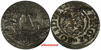 POLAND ELBING GUSTAW II ADOLF SWEDISH OCCUP.1633/2 OVERDATE SOLIDUS  KM 38