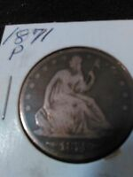 1871 SEATED LIBERTY HALF DOLLAR MH0026