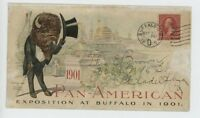 MR FANCY CANCEL USED PAN-AMERICAN EXPO BUFFALO TOP HAT CVR 105