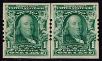USA STAMP 314 1C SERIES OF 1903  MH/OG LINE PAIR