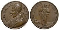 M  ROME CLEMENT XII AE MEDAL 1730 THE GOOD SHEPHERD PT52