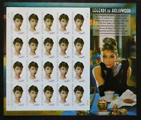 USA     SHEET AUDREY HEPBURN 2003 SELF-ADHESIVE       CAT.40$