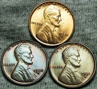 1930 1930-S 1934-D LINCOLN WHEAT CENTS --- GEM BU CONDITION LOT --- W507