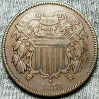1868 TWO CENT PIECE 2CP US COIN --- TYPE COIN --- N456