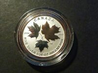 CANADA 2016 $1 SILVER MAPLE LEAF 1/20 OZ SINGLE FROM FRACTIONAL GOLD PLATED SET
