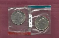 1977 P&D WASHINGTON QUARTERS IN CELLO PKTS NEVER HANDLED WITH OILY FINGERS