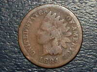 1884 INDIAN HEAD PENNY CENT  2369