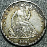 1845 SEATED LIBERTY HALF DOLLAR     TYPE COIN     N039