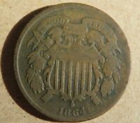TWO CENT PIECES 5 1864 1865 1867 PLUS 2   FREEE SHIPPING