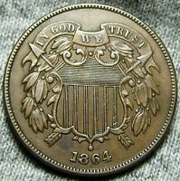 1864 TWO CENT PIECE --- TYPE COIN --- W741