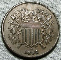 1864 TWO CENT PIECE --- TYPE COIN --- W742