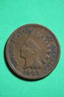 1907 INDIAN HEAD CENT PENNY EXACT COIN PICTURED FLAT RATE SHIPPING 1346