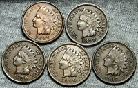 1897 1899 1900 1906 1907 INDIAN HEAD CENTS     NICE LOT     W951