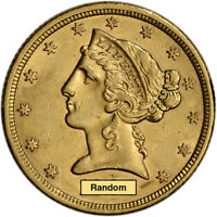 US GOLD $5 LIBERTY HEAD HALF EAGLE   AU   RANDOM DATE