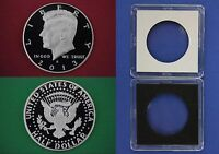 2013 S PROOF JOHN KENNEDY HALF DOLLAR WITH 2X2 CASE DCAM CLAD FLAT RATE SHIPPING