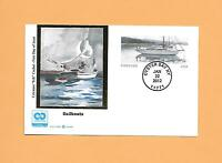US 2012 FDC FIRST DAY POSTAL CARD  UX633 SAILBOAT FOREVER COLORANO SILK