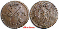 SWEDEN ADOLF FREDERICK COPPER 1766 2 ORE S.M. KM 461