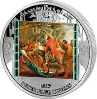 PETER PAUL RUBENS CHRIST ENTRY INTO JERUSALEM 3OZ SILVER COIN COOK ISLANDS 2017