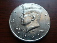 1997 D KENNEDY HALF DOLLAR COIN AU UNCIRCULATED