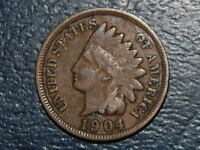 1904 INDIAN HEAD PENNY NICE COIN 2418