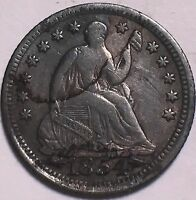 1854 WITH ARROWS SEATED HALF DIME