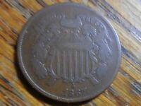 1867 SHIELD TWO CENT COIN SELLER'S NOTE  280