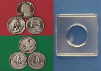 1981 P D S WASHINGTON QUARTERS WITH DIY SNAPS FROM MINT SETS  FLAT RATE SHIPPING