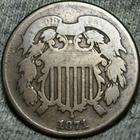 1871 TWO CENT PIECE 2CP TYPE COIN ---- LOW MINTAGE ---- E425