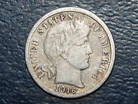 1916 S BARBER DIME NICE COIN  635