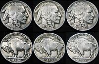 THREE TOUGHER DATES 1929 P 1929 D 1929 S BUFFALO NICKELS PDS FREE S&H DY39BZ