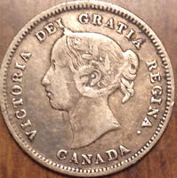 1888 CANADA SILVER 5 CENTS IN GOOD CONDITION