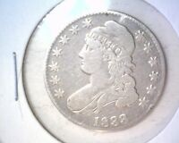 1833 CAPPED BUST HALF DOLLAR  FINE DETAILS CLEANED