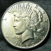 1927 S PEACE DOLLAR SILVER US COIN      STUNNING      N388