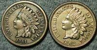 1861  1862 INDIAN HEAD CENTS     COPPER NICKEL TYPE COINS LOT     W118